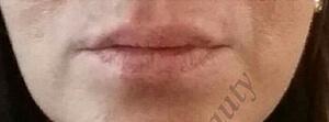 lippen vollschatierung vor - Permanent Make-up